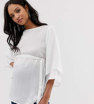 Mama Licious Mama.licious Mamalicious Fluted sleeve blouse
