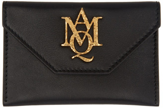 Alexander McQueen Black Insignia Envelope Card Holder $245 thestylecure.com
