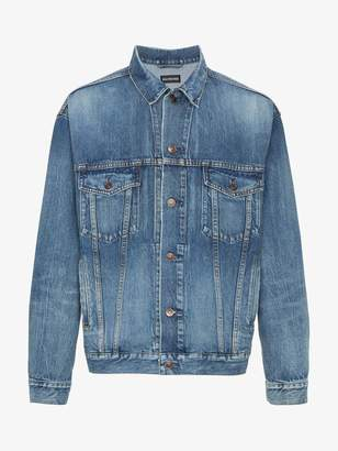 Balenciaga Embroidered BB Mode denim jacket