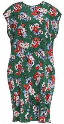MSGM Floral-Print Silk Crepe De Chine Dress