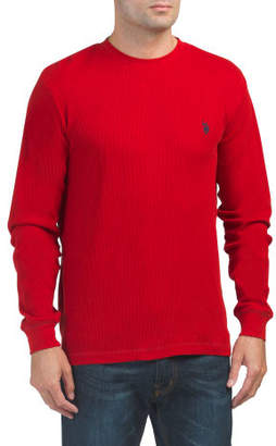 Solid Thermal Crew Neck Top
