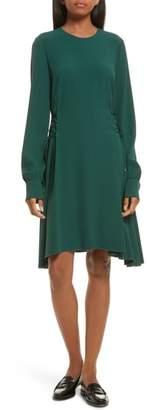 Theory Kensington Lace-Up A-Line Dress