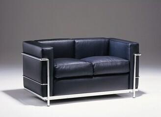 Le Corbusier Gordon International Petit Comfort Leather Loveseat Gordon International