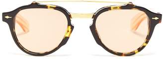 JACQUES MARIE MAGE Cherokee round-frame acetate sunglasses