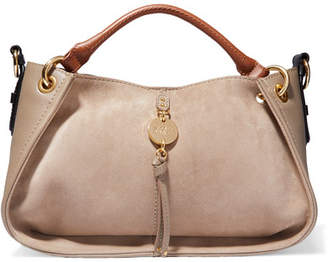 See by Chloe Luce Leather And Suede Tote - Light gray
