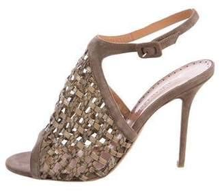 Alexa Wagner Woven Snakeskin Sandals