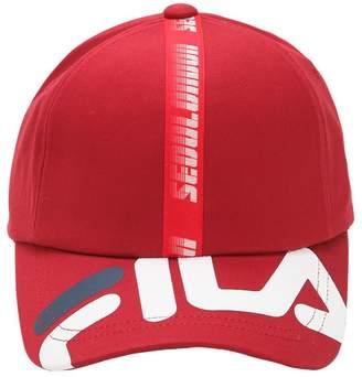 Fila D-Antidote Logo Cotton Baseball Hat