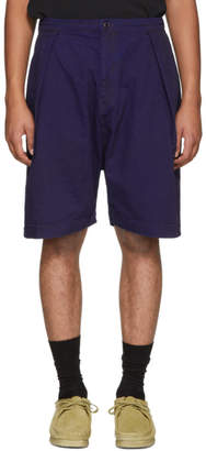 Blue Blue Japan Blue Herringbone Shorts