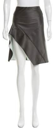 Narciso Rodriguez Asymmetrical Satin Skirt