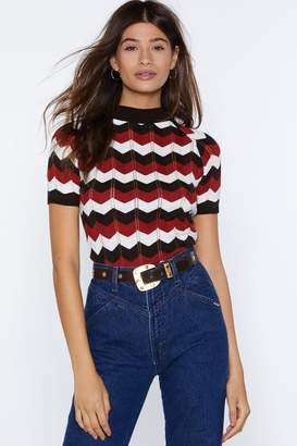 Nasty Gal Chevron Way or Another Knit Top