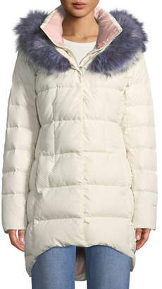 The North Face Hey Mama Parka Puffer Coat w/ Removable Faux-Fur Trim