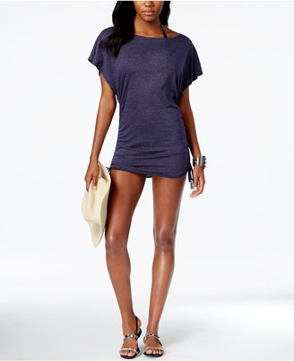 Lucky Brand Knit Shirred Tunic Cover-Up $64 thestylecure.com