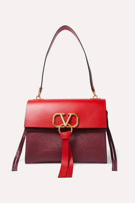 Valentino Garavani Vring Medium Color-block Shoulder Bag - Red