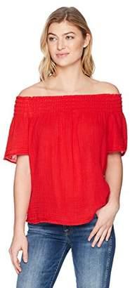 Michael Stars Women's Double Gauze Short Sleeve Smocked top