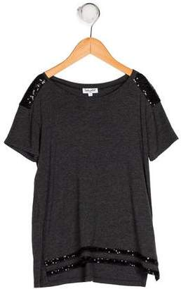 Splendid Girls' Sequins Short Sleeve Top