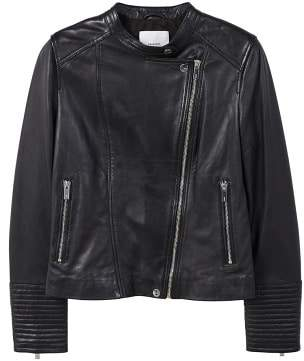 MANGO Zip leather jacket