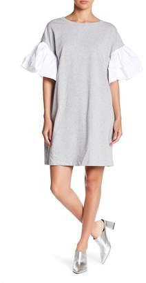 CQ by CQ Contrast Bubble Sleeve Knit Dress