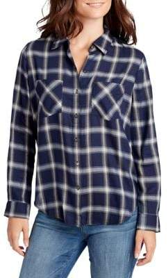 William Rast Aidan Core Plaid Button-Down Shirt