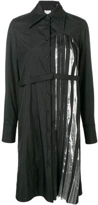 Maison Margiela pleated detail shirt dress