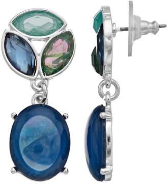 Dana Buchman Blue & Green Drop Earrings