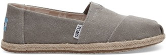 Toms Drizzle Grey Washed Canvas Women's Espadrilles