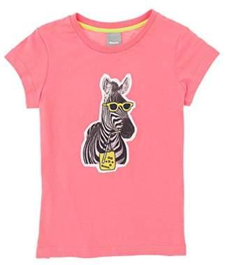 Bench Girl's Zebra Tee T-Shirt, (Strawberry Pink Pk11480), (Size: 7-8)
