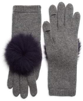 Eugenia Kim Sloane Pom-Pom Fox Fur& Cashmere Gloves