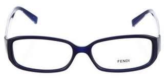 Fendi Zucca Rectangular Eyeglasses
