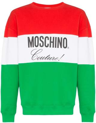 Moschino logo jersey cotton sweatshirt