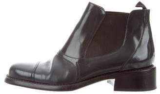 Prada Sport Leather Ankle Boots