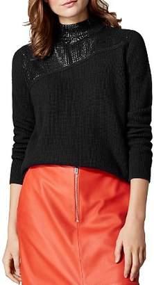 Karen Millen Sequined Mock-Neck Sweater