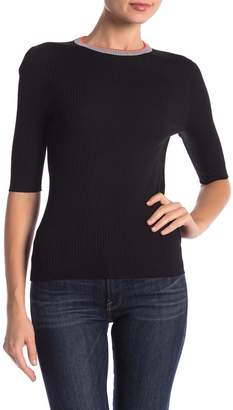 360 Cashmere Haley Ribbed Ringer Tee