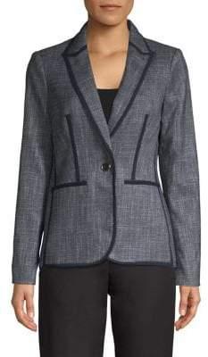 Tommy Hilfiger Long-Sleeve Tweed Jacket