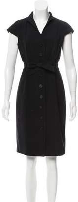 Calvin Klein Belted Knee-Length Dress