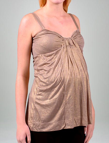 Velvet Tunic Tank In Gold