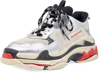 Balenciaga Triple S Mesh & Leather Sneaker