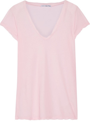 James Perse - Cotton-jersey T-shirt - Pastel pink $85 thestylecure.com