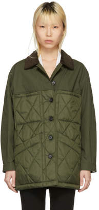 Burberry Green Quilted Jacket