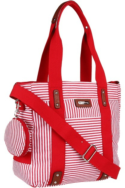 Franco Sarto Lexi Tote (Red Stripe) - Bags and Luggage