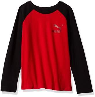 Puma Big Boy's Boys' Longsleeve Raglan T-shirt Shirt