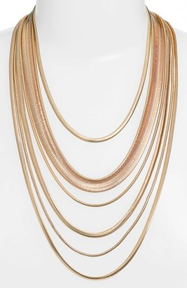 Women's Nordstrom Multistrand Snake Chain Necklace $59 thestylecure.com