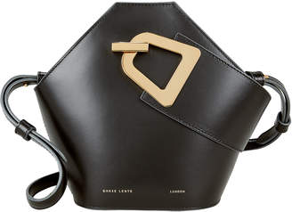 Danse Lente Johnny Mini Black Leather Clutch Bag