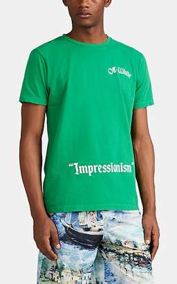 "Off-White Men's ""Impressionism"" Cotton T-Shirt - Green"