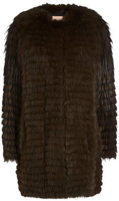Yves Salomon Fox Fur Coat