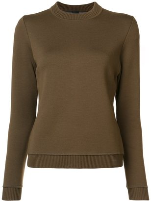 Vera Wang slit back jumper $1,095 thestylecure.com