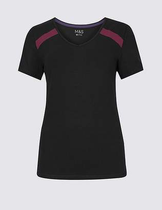 Marks and Spencer Active Cotton Rich Short Sleeve Top