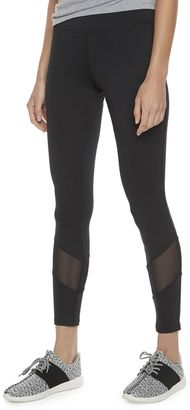 Madden NYC Juniors' Black Mesh Panel Leggings $36 thestylecure.com