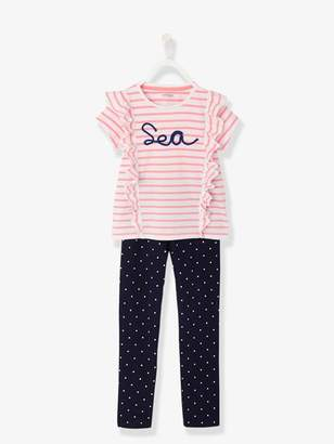 Girls' Jersey Knit Pyjamas - pink light striped