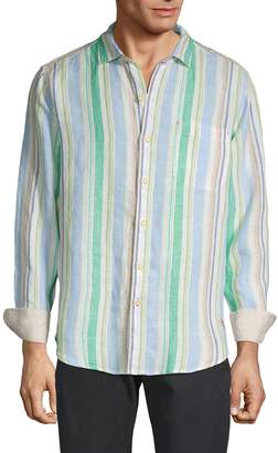 Tommy Bahama Striped Linen Button-Down Shirt