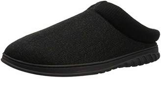 Dearfoams Men's Clog Rib Knit Cuff Slipper